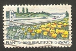 Sellos de America - Estados Unidos -  871 - Parterres con flores y una carretera