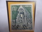 Sellos de Europa - España -  Ed:Es 1877- Basílica San Vicente - Ávila - Adoración de los Magos - Serie: Turismo (1968)