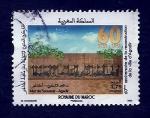 Sellos del Mundo : Africa : Marruecos : 60 Anive.reconstruccion de Agadir