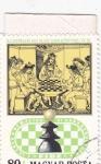 Sellos de Europa - Hungría -  Royal Chess Party, siglo XV, Libro de Ajedrez Italiano