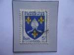 Sellos de Europa - Francia -  Saintonge - Condado Histórico Francés - Escudo de Armas Provinciales.