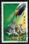 Sellos de Asia - Corea del norte -  Dryocopus javensis richardsi)