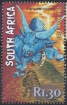 Sellos del Mundo : Africa : Sudáfrica : 1971 - Sophia Mazibuko, The rain bull