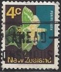 Sellos del Mundo : Oceania : Nueva_Zelanda : 1971 - Puriri Moth (Aenetus virescens)