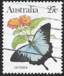 Sellos del Mundo : Oceania : Australia : mariposas
