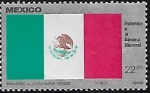 Sellos del Mundo : America : México : Homenaje a la bandera nacional.