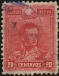Sellos de America - Bolivia -  Mariscal Antonio José de Sucre.