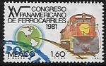 Sellos del Mundo : America : México : XV Congreso Panamericano de Ferrocarriles.