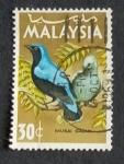 Sellos de Asia - Malasia -  Pajaros