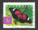 Sellos de Oceania - Australia -  2235 - Mariposa Crisopa Roja