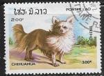 Sellos del Mundo : Asia : Laos : Perros - Chihuahua