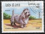 Sellos del Mundo : Asia : Laos : Perros - Cairn Terrier