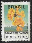 Sellos del Mundo : America : Brasil : Flores - Ipé Amarelo