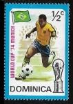Sellos del Mundo : America : Dominica : Copa del mundo 74 - Brasil