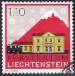 Sellos del Mundo : Europa : Liechtenstein :  estación tren Schaan-Vaduz