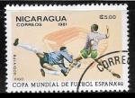 Sellos del Mundo : America : Nicaragua : Copa Mundial de Futbol - Vigo
