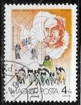 Sellos del Mundo : Europa : Hungría : Exploradores de la Antartida - Roald Amundsen