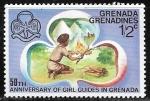Sellos del Mundo : America : Granada : 50 an iversario de los Boy scouts
