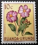 Sellos de Africa - Rwanda -  Flor indígena