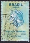 Sellos de America - Brasil -  tarifa postal internacional