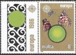 Sellos del Mundo : Europa : Malta :  mariposas