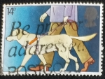 Sellos de Europa - Reino Unido -  Perro guia
