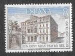 Sellos del Mundo : Europa : España : Edif 2114 - 125 Aniversario del Gran Teatro del Liceo