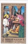 Sellos del Mundo : Asia : Emiratos_Árabes_Unidos : Jesús delante de Pilatos