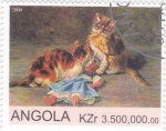 Sellos del Mundo : Africa : Angola :  GATOS
