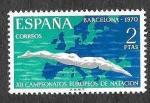 Sellos del Mundo : Europa : España : Edif 1989 - XII Campeonatos Europeos de Natación, Saltos y Waterpolo