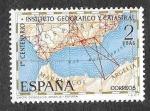 Sellos del Mundo : Europa : España : Edif 2001 - Centenario del Instituto Geográfico y Catastral