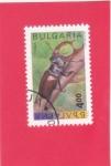 Sellos del Mundo : Europa : Bulgaria : Escarabajo ciervo (Lucanus cervus)