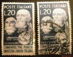 Sellos de Europa - Italia -  Pioneros industria de la lana. Gaetano Marzotto (1820-1910) and Alessandro Rossi (1819-189