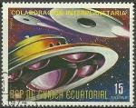 Sellos del Mundo : Africa : Guinea_Ecuatorial : La cooperación espacial EE.UU. / URSS, la de los platillos volantes