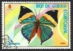 Sellos del Mundo : Africa : Guinea_Ecuatorial : Mariposas (III) 1976, Hoja de roble naranja (Kallima inachus)
