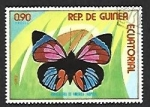 Sellos del Mundo : Africa : Guinea_Ecuatorial : Mariposas (III) 1976, Rhopalocera de america tropical