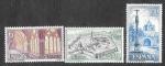 Sellos del Mundo : Europa : España : Edif 1834-1835-1836 - Monasterio de Veruela