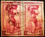 Sellos de Europa - Italia -  Profesiones.  Winegrower and Castel del Monte, (Apulia)