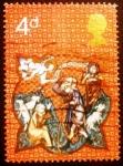 Sellos de Europa - Reino Unido -  Shepherds and Apparition of Angel