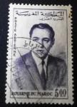 Sellos de Africa - Marruecos -  Rey Hassan II. Correo aéreo