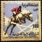 sello : Africa : Marruecos : Concurso Internacional Hípico de Salto