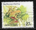Sellos del Mundo : Oceania : Australia : Reptiles - Blue Mountains Tree Frog