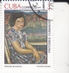 Sellos del Mundo : America : Cuba :  PINTORES CUBANOS-retrato de Enmita