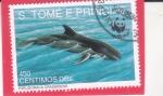 Sellos de Africa - Santo Tomé y Principe -  ORCA NEGRA