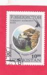 Sellos del Mundo : Asia : Uzbekistán : Buitre cinerístico (Aegypius monachus)