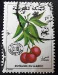 Sellos del Mundo : Africa : Marruecos : Frutas. Cerezas