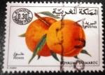 Sellos del Mundo : Africa : Marruecos : Frutas. Melocotones