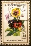 Sellos del Mundo : Africa : Marruecos : Flores. Viola wittrockiana