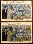 sello : Africa : Marruecos : Mohamed V y Hassan II