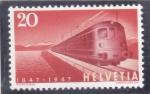 Sellos del Mundo : Europa : Suiza : Centenario Tren expreso Electrico Gotthard